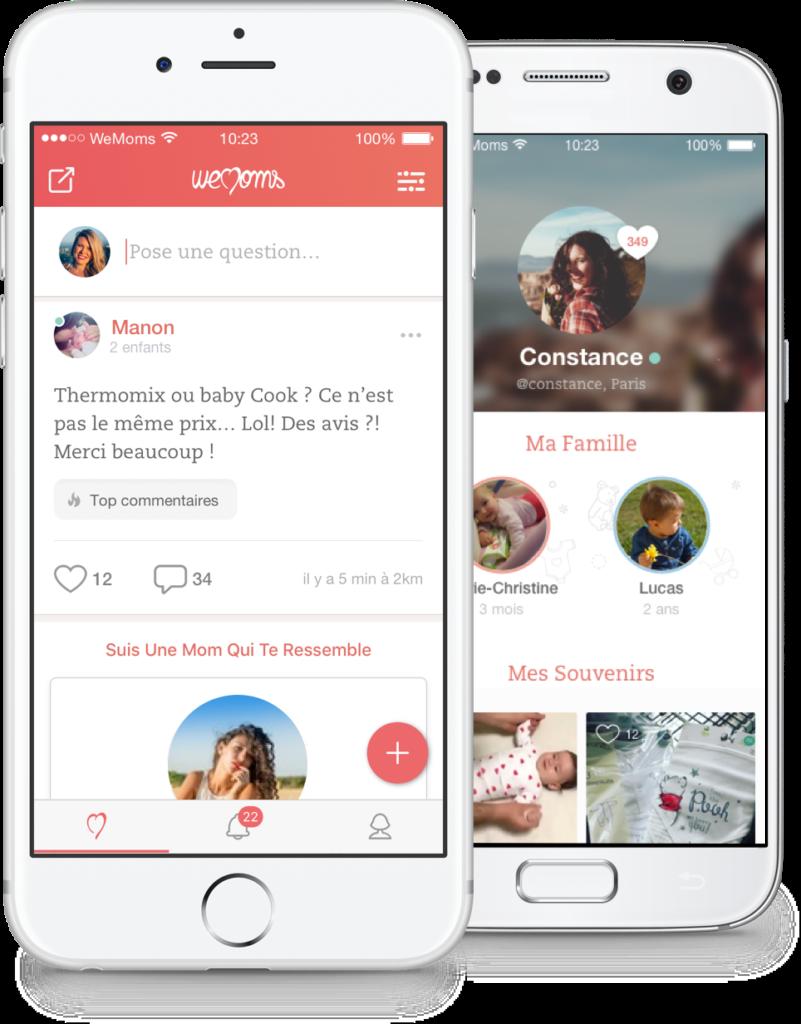 WeMoms : une application mobile pour futures mamans